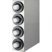 San Jamar C2854 - Four Compartment Cup Dispenser Cabinet