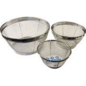 3 Pieces Set Stainless Steel Mesh Strainer Set