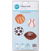 Wilton Candy Mold Sports Lollipop 9 Cavity W2115-4432; 6 Items/Order