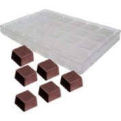 Chocolate Mould Straight-Sided Square 33x33mm x 20mm High 24 Cavities