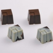 Martellato Chocolate Mould Partitioned Cube 22x22x22mm 28 Cavities