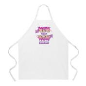 L. A. Imprints 2033 Mom Wow Cooking Apron