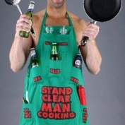 Boxer Gifts Stand Clear Man Cooking Apron CO1001