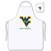 Sports Coverage West Virginia Mountaineers Apron and Mitt Tailgate Set
