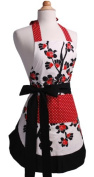 Flirty Aprons Women's Original Apron in Cherry Blossom WO-10017