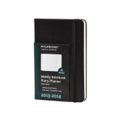 Moleskine 2013-2014 Weekly Planner, 18 Month, Large, Black, Soft Cover