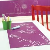 Wallies 16003 Peel and Stick Chalkboard Sheet Grape Set of 4