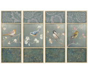 Wallies W13350 Peel and Stick Birds Blossoms Wall Art