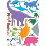 Dinosaur World Dinosaur Silhouette Kids' Room/Nursery Vinyl Peel Stick Wall Sticker Decals