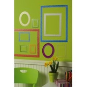 Wallies 13362 Peel and Stick Colourful Frames Wall Art