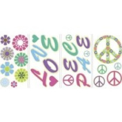 Mystyle MS0104 Peace & Love Glow in The Dark Wall Stickers