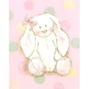 Stupell Industries The Kids Room Rectangle Wall Plaque - Pink and Polka Dot - Bunny