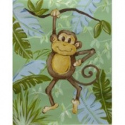 Stupell Industries The Kids Room Rectangle Wall Plaque - Monkey in Jungle