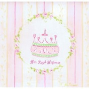 Stupell Industries The Kids Room Square Wall Plaque - Pink and Yellow Stripes - Her Royal Highness