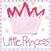 Stupell Industries The Kids Room - Little Princess with Big Pink Crown Square Wall Plaque