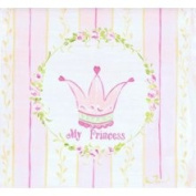 Stupell Industries The Kids Room Square Wall Plaque - Pink and Yellow Stripes - My Princess