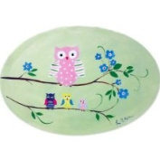 Stupell Industries Owls On Braches Green Oval