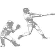 Borders Unlimited 2335 Baseball Grand Slam and Catcher Sudden Shadows Wall Decal