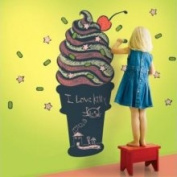 WallCandy Arts Cicc Chalkboard Ice Cream Cone Wall