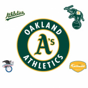 Fathead 91.4cm . x 91.4cm . Oakland Athletics Logo Wall Decal FH63-63215
