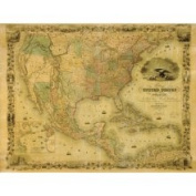 Brewster Home Fashions Ultimate Map of 1849 Wall Mural