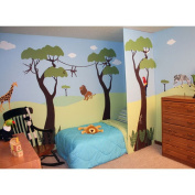 Wild Jungle Safari Self-Adhesive Wall Stencil Kit My Wonderful Walls