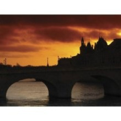 Brewster Home Fashions Ultimate Stone Bridge at Sunset Wall Mural