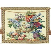 Corona Decor Floral Vase on Pedestal European Tapestry Wall Hanging
