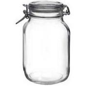 Bormioli Rocco Fido Vaso Square Jar, 67.75 Ounces, 2000ml
