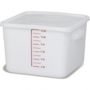 Rubbermaid Commercial Products FG9F0700WHT Food Storage Container, Space-Saver, Square, 11.4l, White