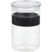 Bodum Presso 590ml Glass Storage Jar with Silicone Band in Black