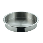 SMART Buffet Ware Medium Round Full Size Stainless Steel Food Pan