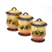 Certified International French Olives Canister Set (Pack of 3) 10405