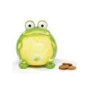Toby The Toad Collection Toby The Toad Frog Cookie Jar Canister for Kitchen Decor and Food Storage