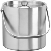 Kraftware 71407 Brushed Stainless Steel 2.5 Quart Brushed Stainless Steel Doublewall Ice Bucket