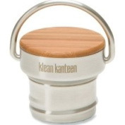 Klean Kanteen Bamboo Water Bottle Cap, Brushed Stainless