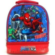Marvel Spiderman lunch Bag -Double Compartment Insulated Lunch Tote - Spidy Vs. Doc Oct