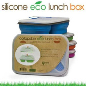 Smart Planet Large Collapsible Eco Silicone Lunch Box Assorted Colours