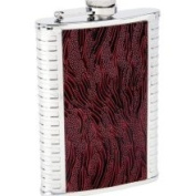 Maxam 240ml Ss Flask Red Leather Grain