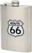 Maxam KTFLSK66 Large Hip Flask Route 66 - Stainless Steel