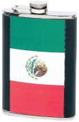 Maxam® 240ml Stainless Steel Flask with Mexican Flag Insert