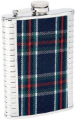 Maxam KTFLPLD 240ml Stainless Steel Flask with Irish Style Plaid Insert