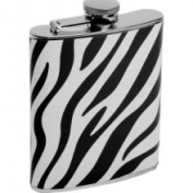 Wild Girls Night Out Zebra Hip Flask