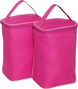 JL Childress TwoCOOL 2-Bottle Cooler - Bright Pink