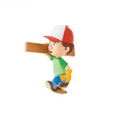 Bullyland Handy Manny Figurine with Wood Truss