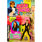 1999 - McFarlane Toys - Austin Powers Series 2 - Vanessa Kensington (Elizabeth Hurley) - Feature Film Figure - Voice Chip Base / Champagne Bottle / Champagne Flute / Magnifying Glass / Laptop - New - Out of Production - Limited Edition - Collectible