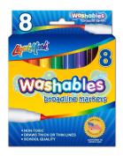 LIQUI-MARK Bold Washable Marker, Box of 8