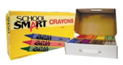 School Smart Crayons Classroom Pack - 3 1/2 x 5/16 - Set of 800 - 8 Assorted Colours