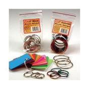 2.5cm Book Rings; Assorted Colours - 50 Per Pack; no. HYG61351