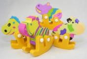 Rocking Horse Puzzle Erasers 4 Colours 4 Pcs